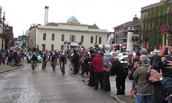 Tour of Britain comes through Bury St Edmunds