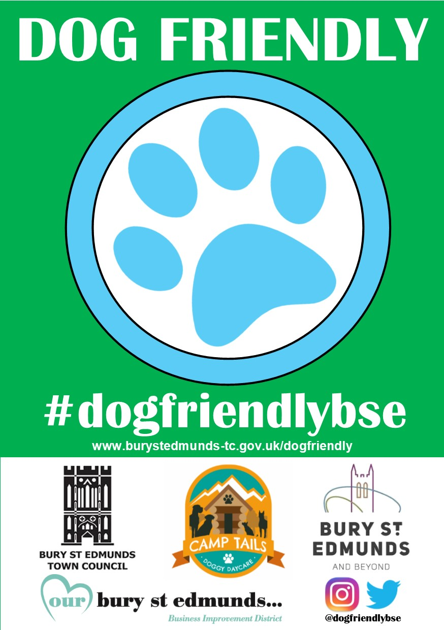 Dog Friendly Bury St Edmunds sticker
