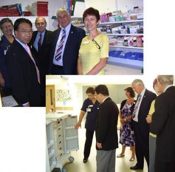 Photo montage of councillors during their visit